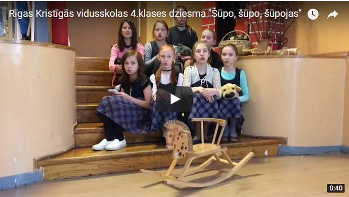 Rīgas Kristīgās vidusskolas 4.klases meiteņu dziesma