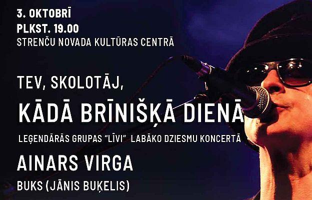 Ainars Virga un Rīgas Kristīgās vidusskolas koris koncertēs Strenčos