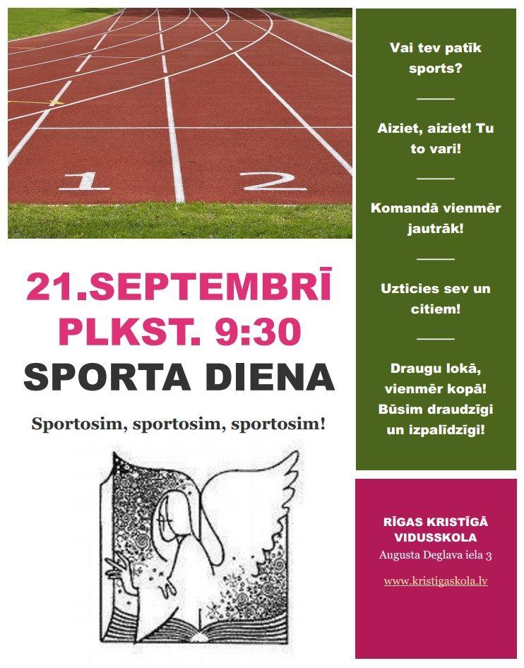 Rīgas Kristīgās vidusskolas sporta diena 2018
