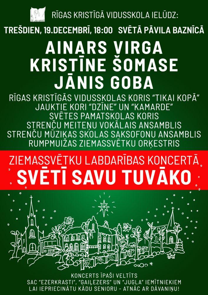 Rīgas Kristīgās vidusskolas Ziemassvētku koncerts 2018