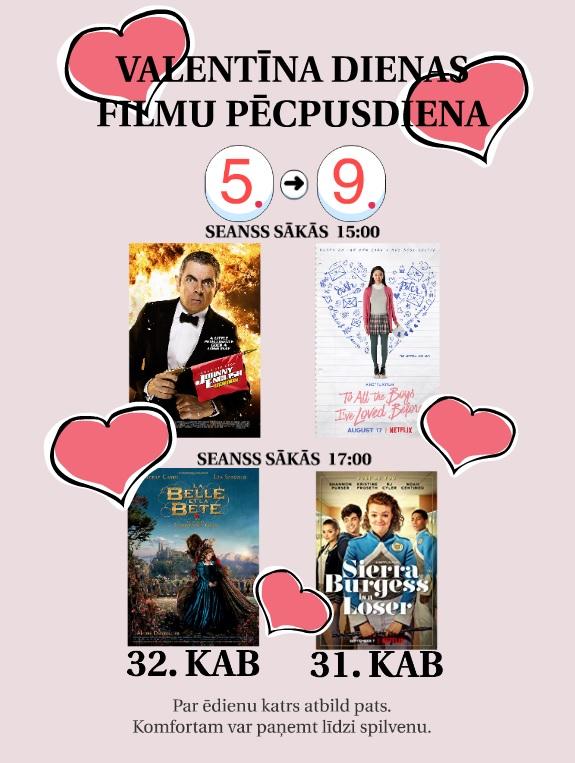 Valentīna dienas filmu pēcpusdiena