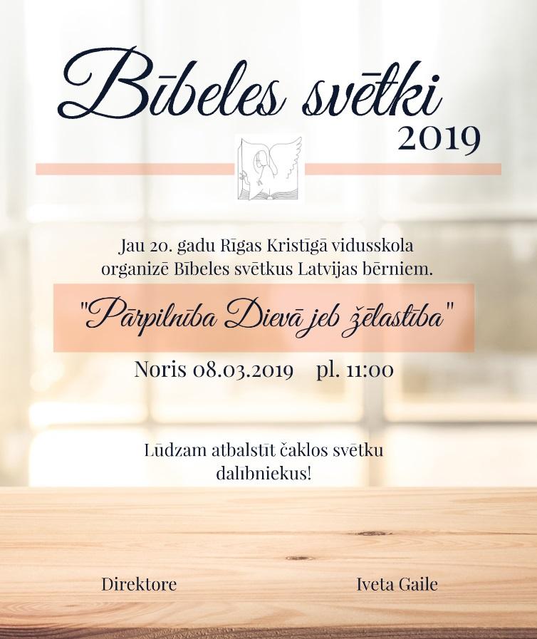 Bībeles svētki 2019