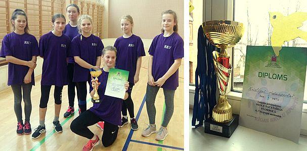 Mūsu meitenēm 2.vieta Latgales priekšpilsētas finālsacensībās florbolā!